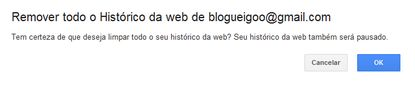 apagar histórico do google