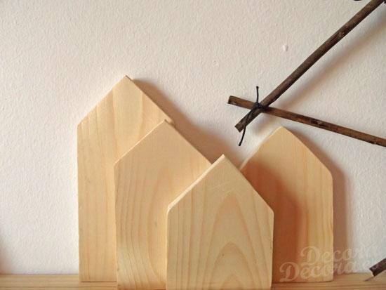 Casas de madera hechas a mano.