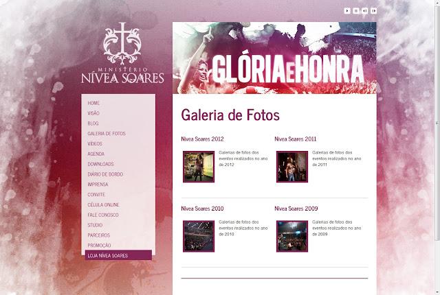 *唯美浪漫風的音樂歌手網|Nivea Soares Web Site 3