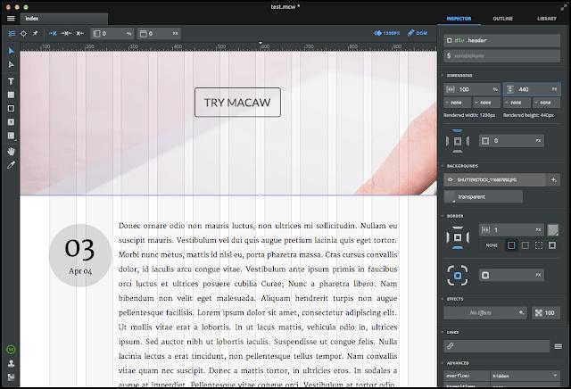 Aplikasi pilihan web designer: Macaw