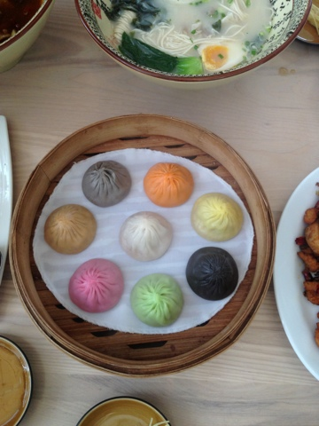 Mixed soup dumplings, Siu Loung Pao, Paragon, Bangkok, thailand
