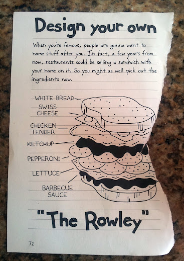 Diary of a wimpy kid winter weather boredom buster its called the rowley there was just one problem rowleys sandwich isnt the healthiest white bread pepperoni and cheese oh my solutioingenieria Image collections