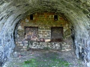 Inside one of the limekilns