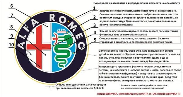 How to repair Alfa Romeo emblem