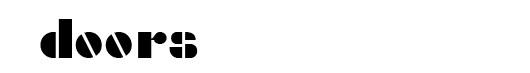 Densmore font logo The Doors