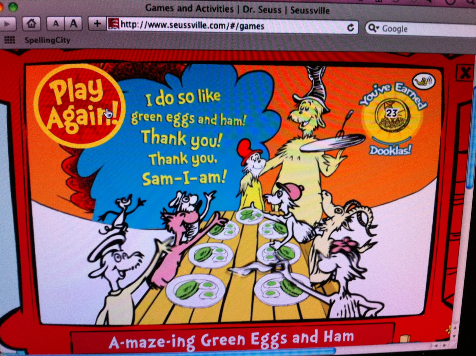 Kinderpond Seuss Day 1