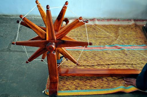 Large Charkha (Spinning Wheel) at Gandhi Ashram