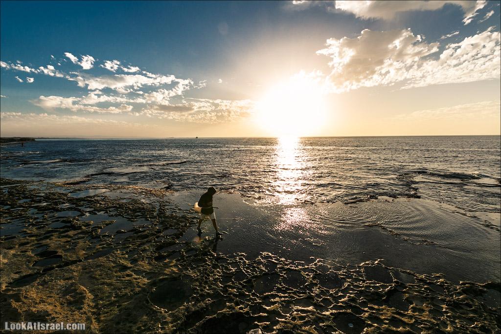Закат на средиземноморье. LookAtIsrael.com - Фото путешествия по Израилю и не только...