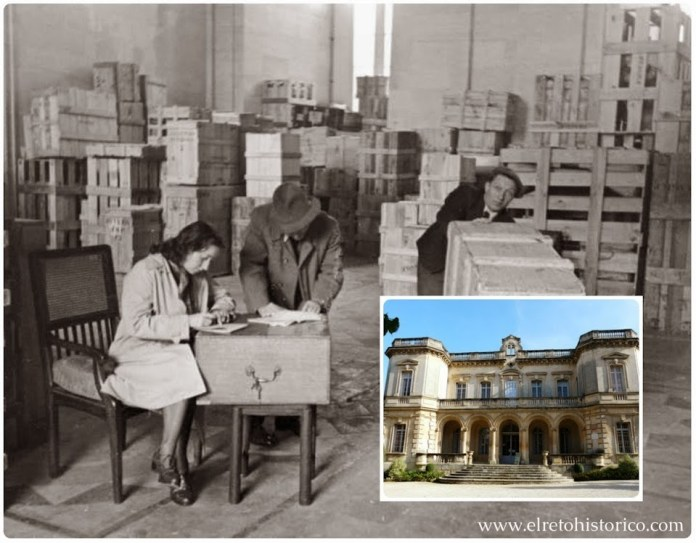 Embalaje de piezas del Louvre en 1939 // Palacio de Montauban