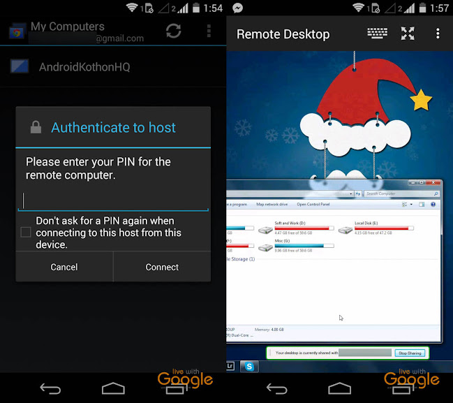 chrome remote desktop on android