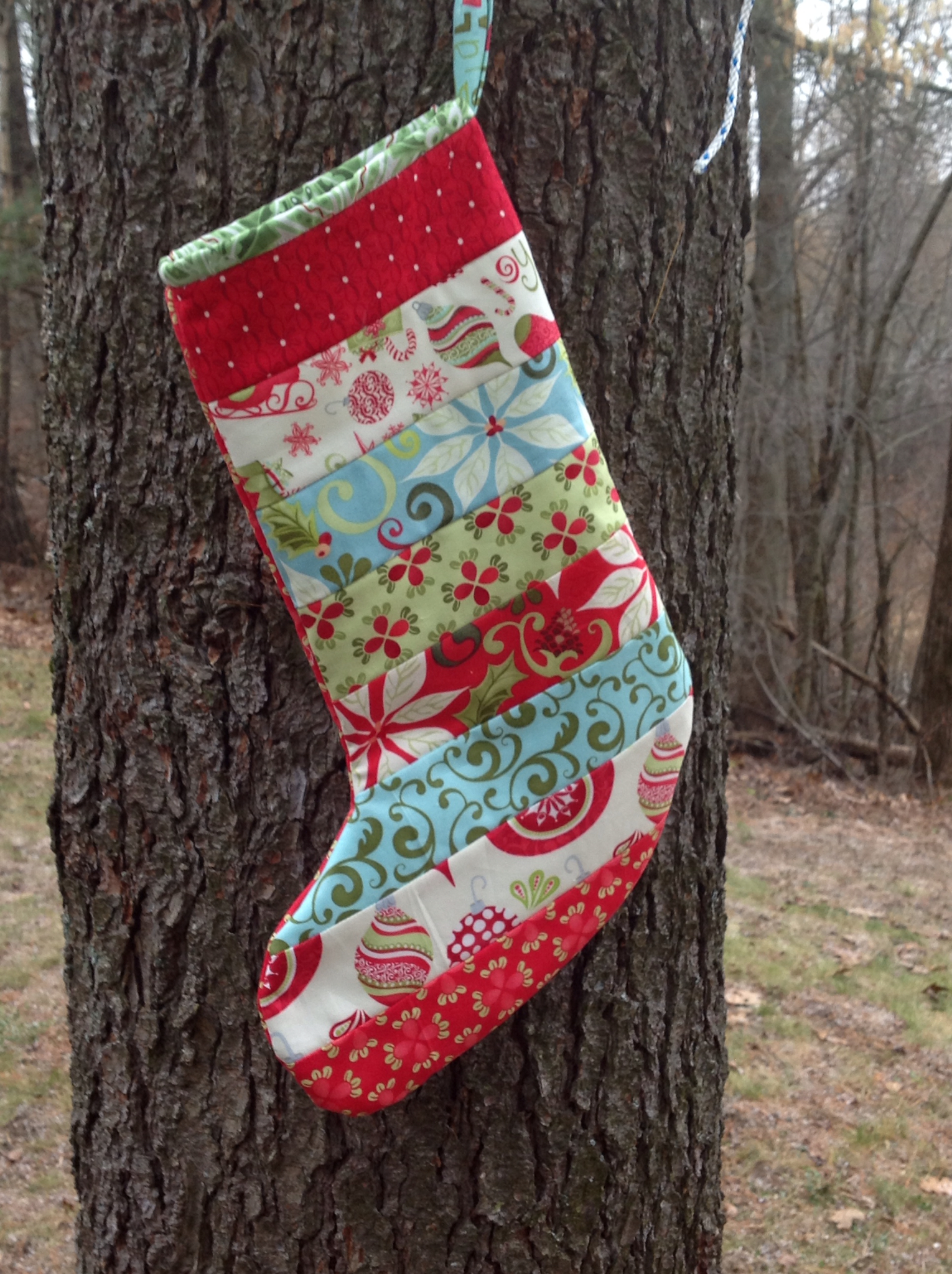 Modern Material Girl Tutorial Quilted Christmas Stockings