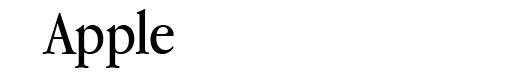 ITC Garamond Book font logo Apple