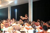 El holandés Dick van Gasteren impartió clases de dirección orquestal durante una semana