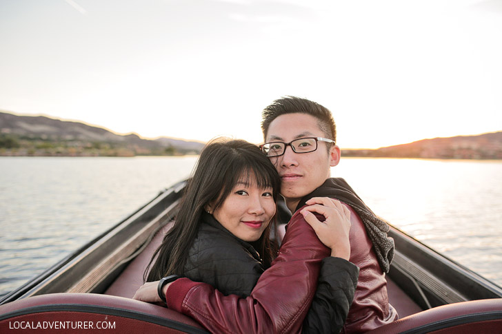 Romantic Gondola Ride Las Vegas Lake.