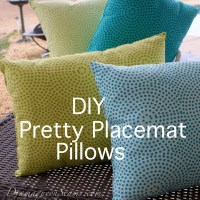 DIY Pretty placemat pillows