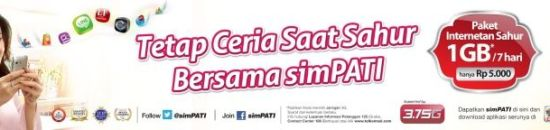 Cara Daftar Paket Internetan Sahur sepuasnya Telkomsel