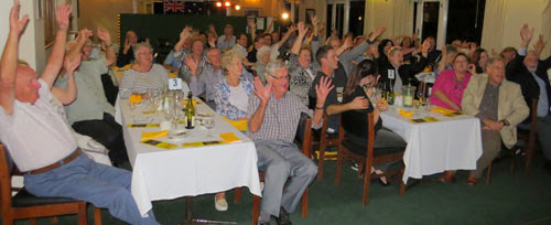 audience participation at The Goon Show LIVE!