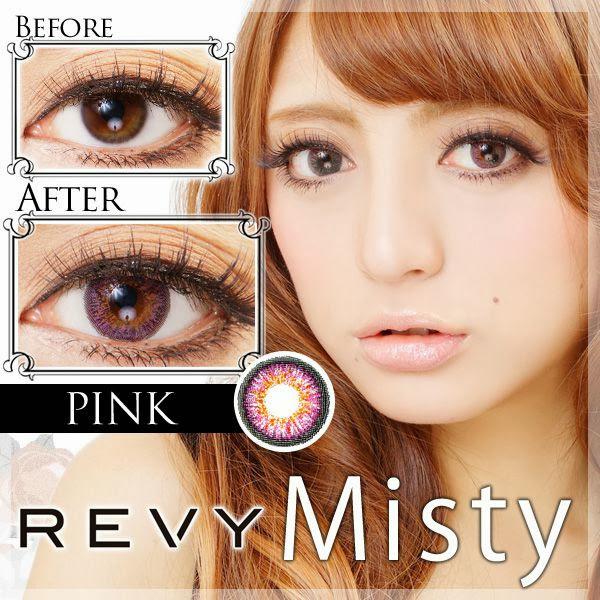 【限定クーポンあります】REVY Misty(ミスティ)度あり&度なしカラコン ピンク ピンクカラコン 商品画像