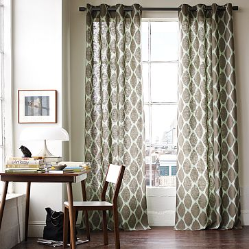 I Am Also Dying To Stencil Something And Thinking That These West Elms Curtains Could Be Easily Knocked Off