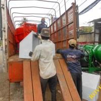Tiếp tục xuất xưởng lô hàng Máy trộn bê tông cam và xanh