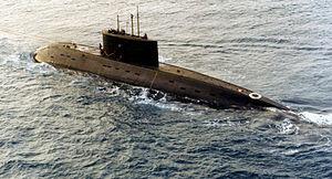 An Iranian Kilo class submarine, the Yunes