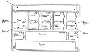 1990 525I relay diagram