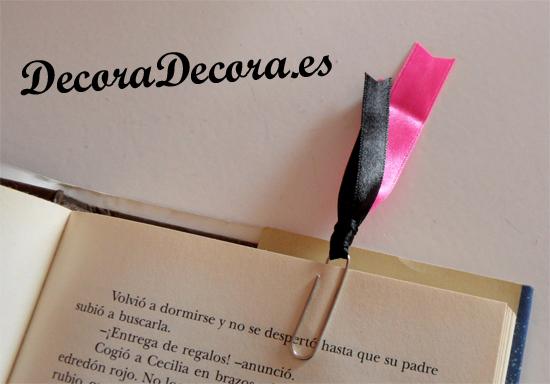 como hacer marcapaginas para decorar libros