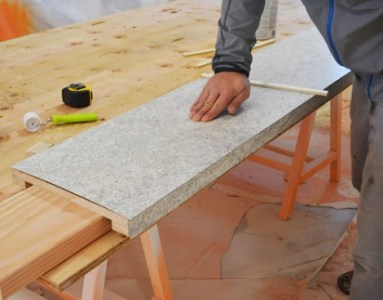DIY ing a Laminate Countertop   Ana White Woodworking Projects And then carefully remove the stickers  Again  we use the J roller to apply  pressure to the laminate