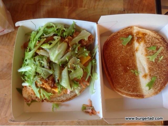 KFC Pulled Chicken Ultimate Burger