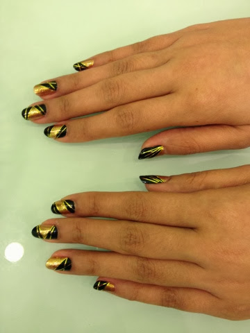 After That Gold Striping Tape Was Added To Make The Design Look Simply Exquisite Tada