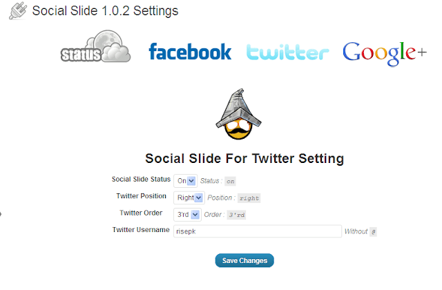 twitter interface social slide plugin