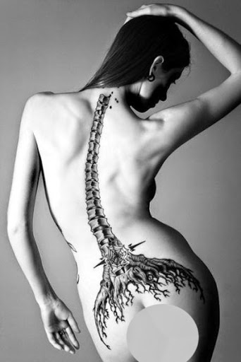 Spine tattoos