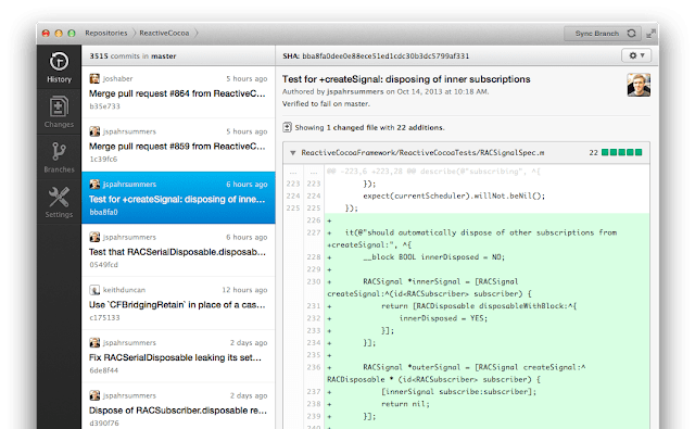 Tampilan Aplikasi GitHub Desktop