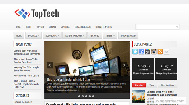 Top Tech Blogger template
