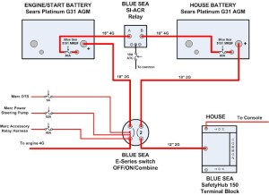 Separating start and house batteries for single engine