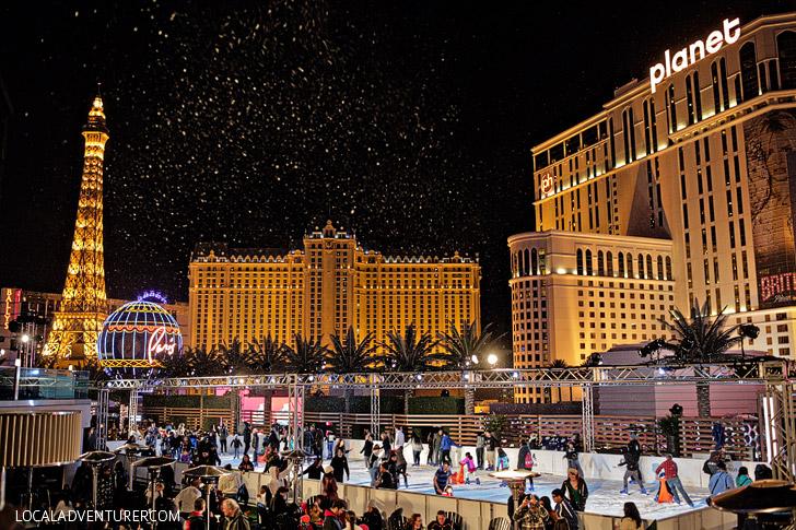 Ice Rink Cosmopolitan // Ice Skating Las Vegas.