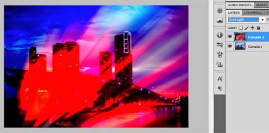 Mesclagem Luz brilhante (Vivid light)