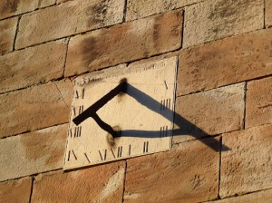 Sun Dial on Ellastone Church