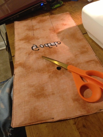 Sew a straight stitch around, leaving an area to turn right sides out.