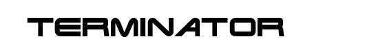 Terminator Real font logo Terminator