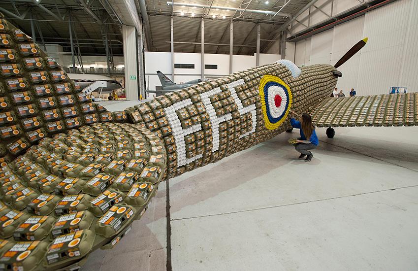*藝術家jack munro和charlotte austen:用6500個雞蛋盒做的噴射飛機! 9