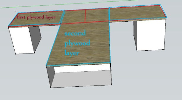 Building a countertop out of hardwood flooring