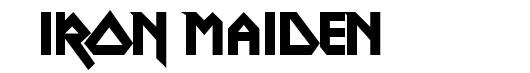 Metal Lord font logo Iron Maiden