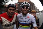Eddy Merckx Look-a-like en Thor Hushovd