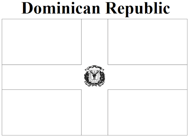 Geography Blog Dominican Republic Flag Coloring Page