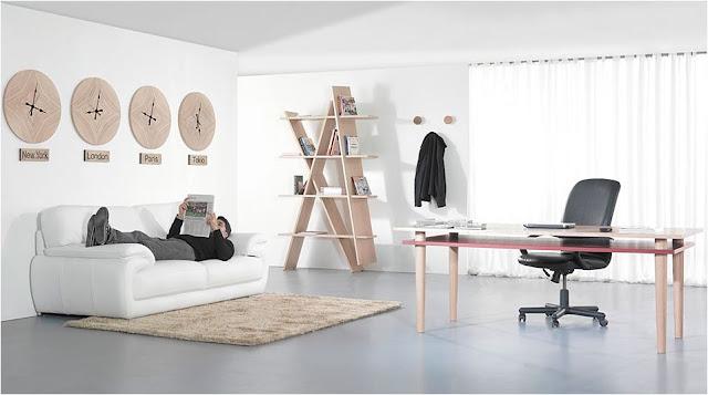 Muebles de roble.