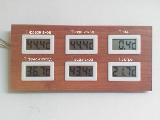 следени температури