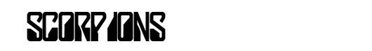 Lady Starlight font logo Scorpions