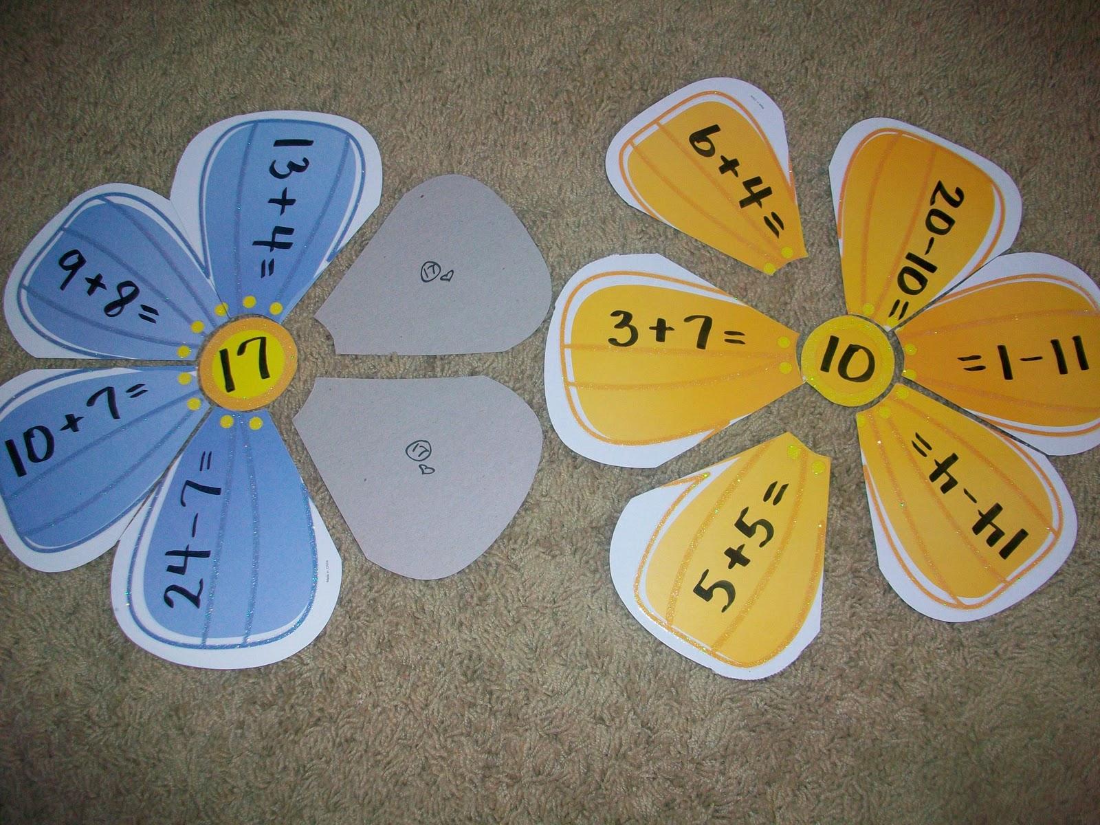 First Grade School Box Math Flowers