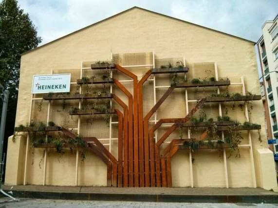 jardín vertical jardines verticales green wall ecosistema vertical vertical paisajismo jardineras vitoria gasteiz eco.frame green capital